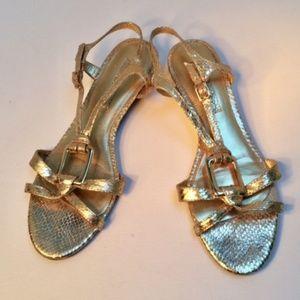 Bandolino Women's Gold Snake Skin Sandal